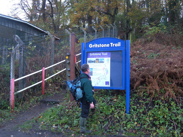 Start of the Gritstone Trail at Disley