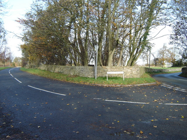 Road junction outside Nercwys