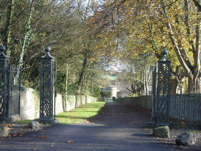 Nercwys Hall driveway