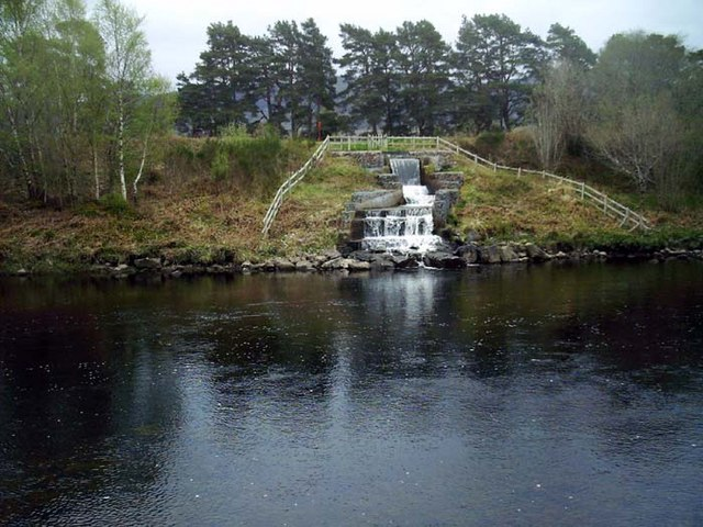 Outflow from Caledonian Canal to River Oich