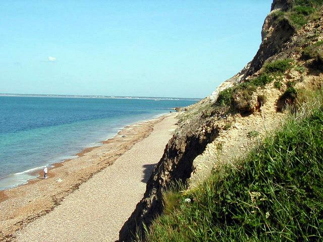 Beach and Cliffs at Alum Bay