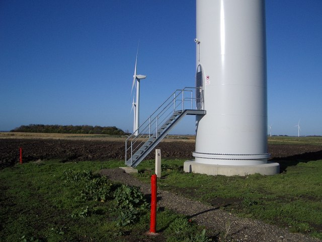 Base of Wind Turbine , Vine House Farm