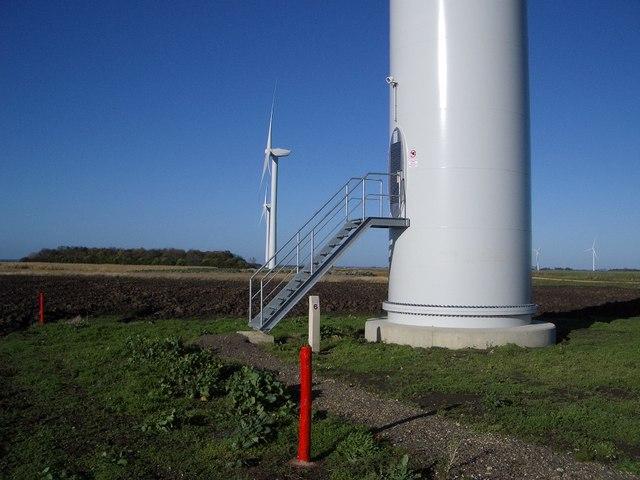 Base of Wind Turbine , Vine House Farm