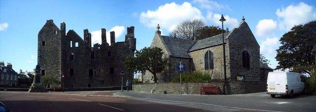 Castle and church Kirkcudbright