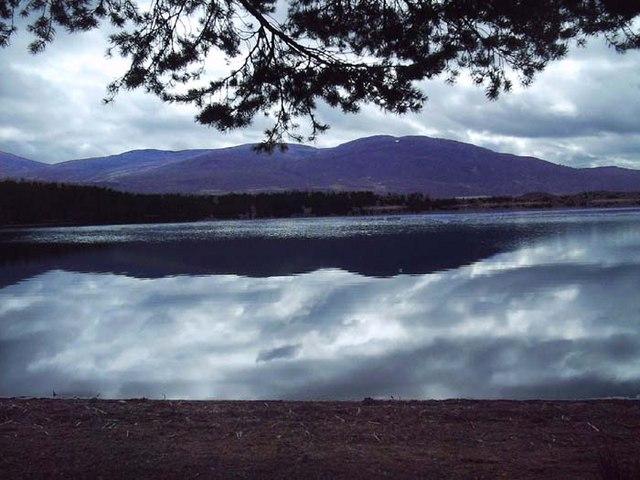 Craiggowrie from shore of Loch Garten