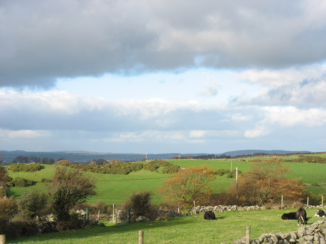 View NW from Y Gaer