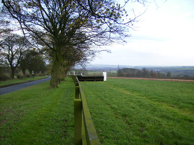 Racehorse training gallops west of Malton