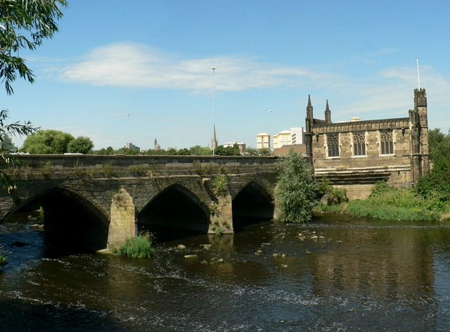 Wakefield Bridge and the Chantry Chapel