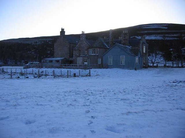 Gairnshiel Lodge in winter