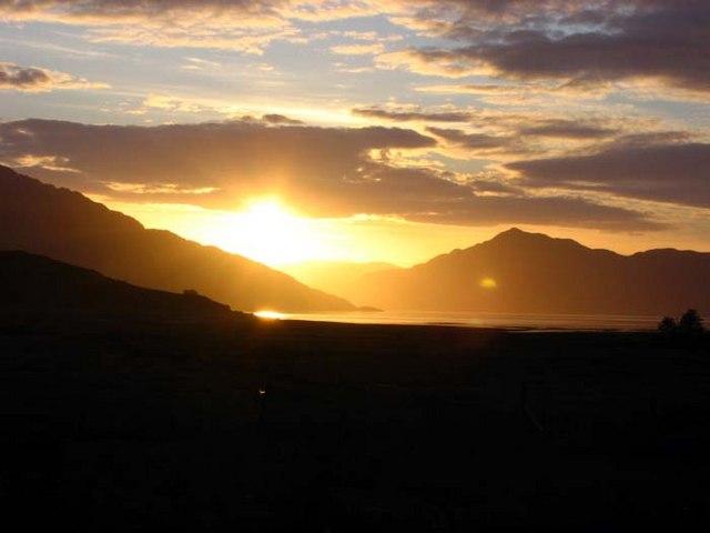 Sunset over Loch Hourn
