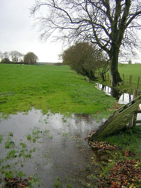 Flooded Burn Beside High Cleughearn Road