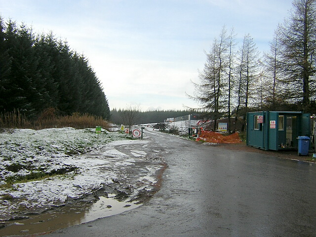 Entrance to Whitelee Wind Farm Construction Site