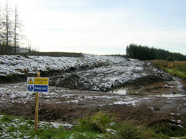 Part of Construction Site for Whitelee Wind  Farm