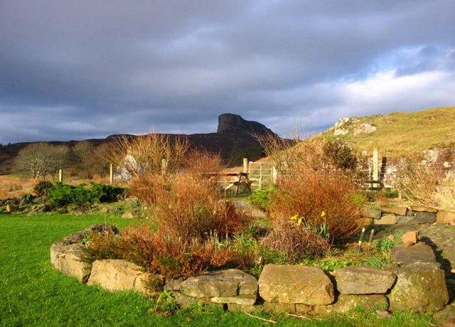 An Sgurr from 'The Barn' hostel garden