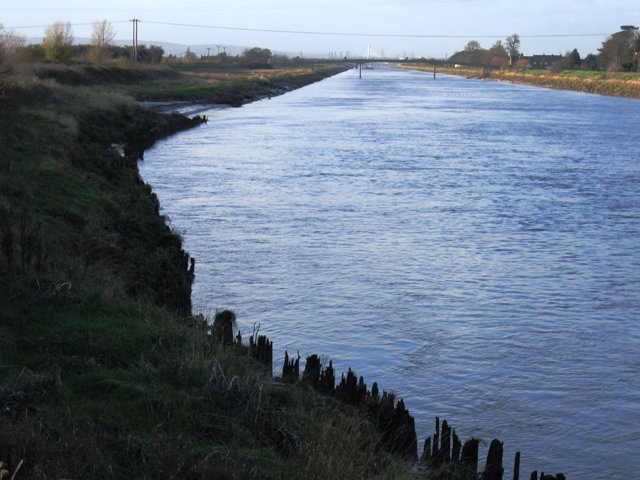 The River Dee/Afon Dyfrdwy heading for the estuary