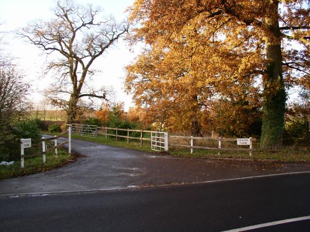 Entrance to Cowick Farm