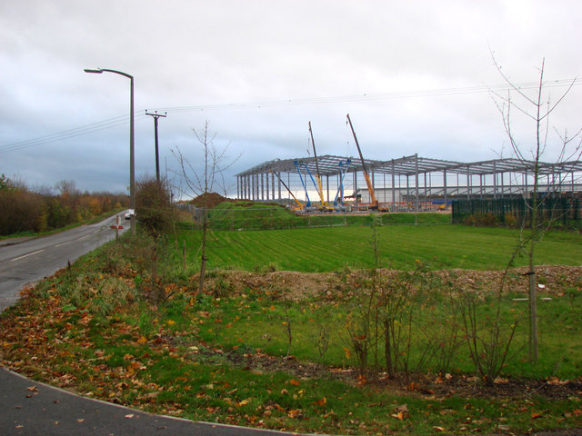 New factory Site, north side of Longlands Lane.