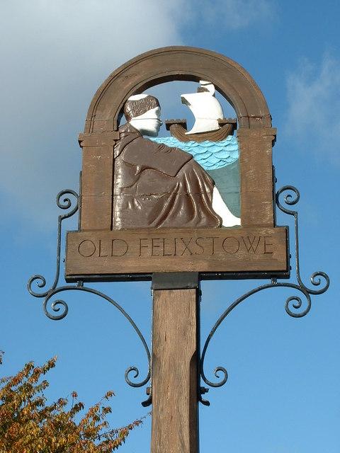 Old Felixstowe village sign