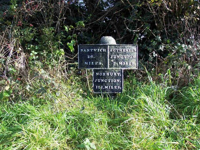Shropshire Union Canal Milepost