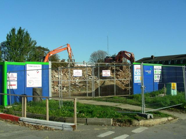 Oldchurch Hospital - demolition begins