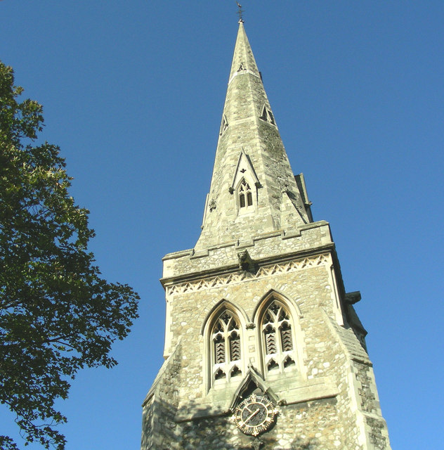 The spire of St. Edward's Church