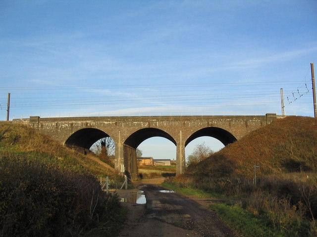 East Coast railway line bridge over Colsterworth Lane