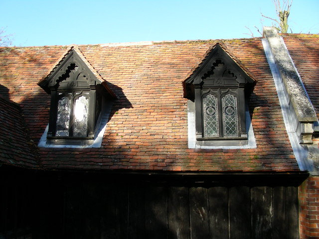 Greensted Church (detail)