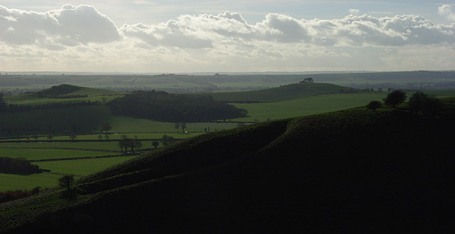 View from the downs above Huish
