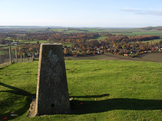 Trig point, the Giant's Grave