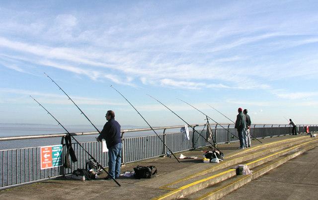 Fishermen on the Breakwater - Cardiff Bay
