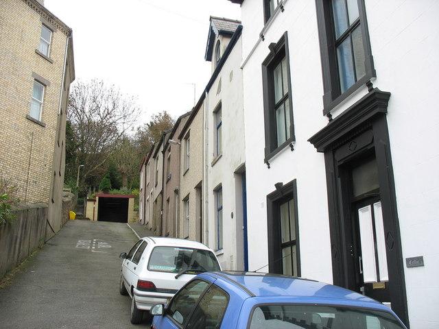 Rowland Street, a steep cul-de-sac off St David's Road