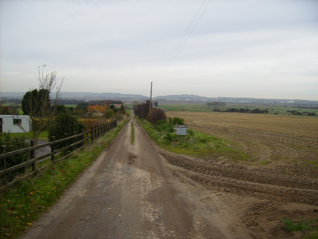 The track to Woodhouse Farm near Flixton