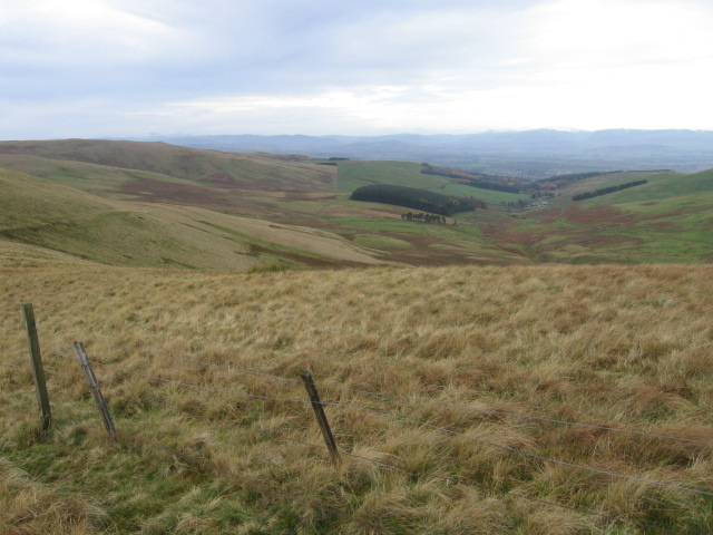 From Sim's Hill towards Coul Burn