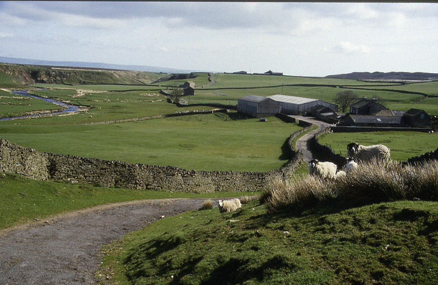 sleightholme moor road chris heaton geograph britain