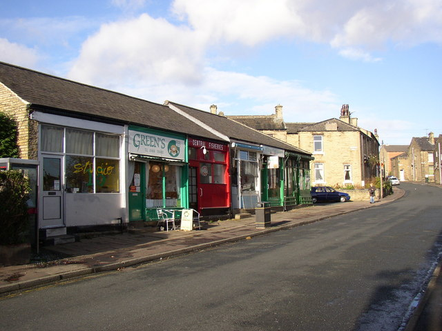 Row of shops, Lightcliffe Road, Brighouse