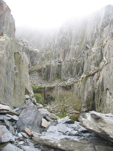 The western section of the quarry face viewed from Level One