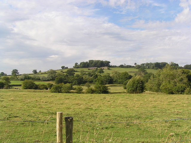 Site of Cistercian Abbey, Bencroft Hill Farm in the distance
