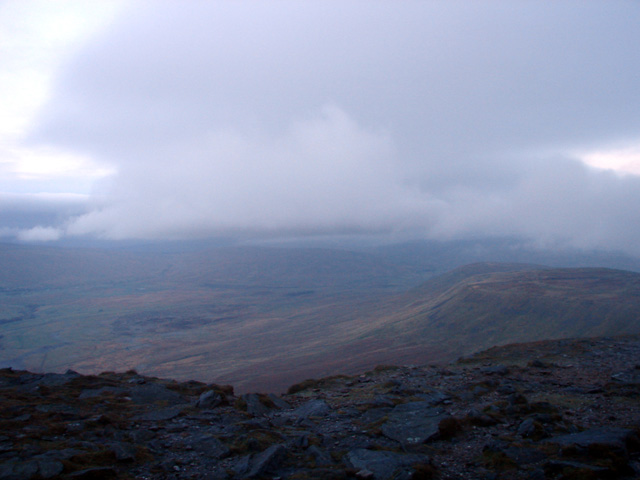 The start of the descent from Ingleborough