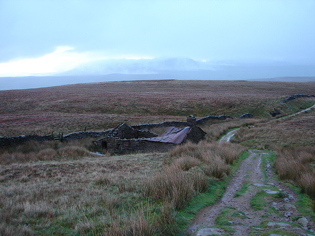 The path from Ingleborough to Horton