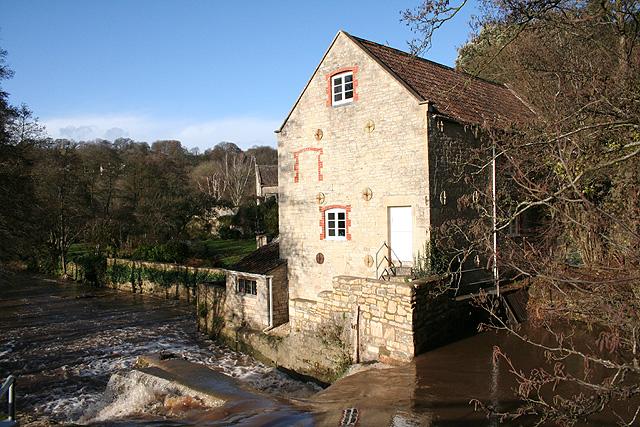 Hinton Charterhouse: mill at Midford
