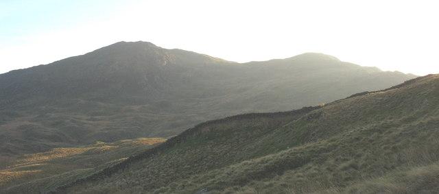 The last glint of sunlight in Cwm Oerddwr