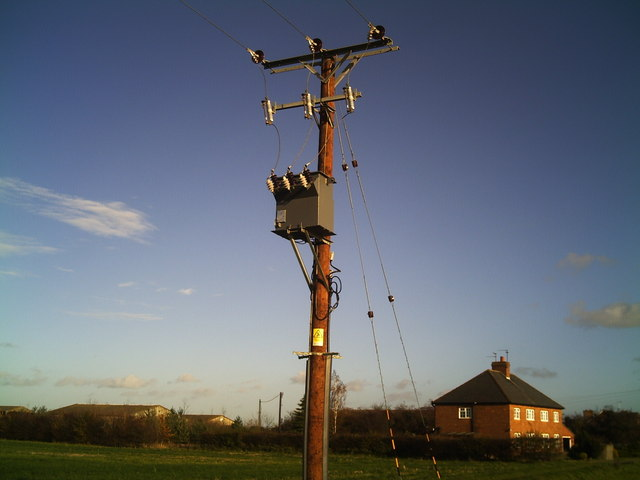 Electricity transformer at Cardyke Farm
