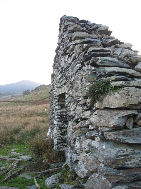 A derelict building in Cwm Afon Goch