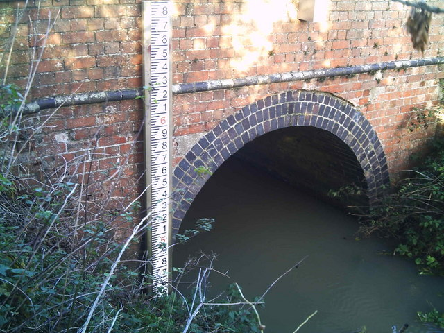Car Dyke culvert and river gauge