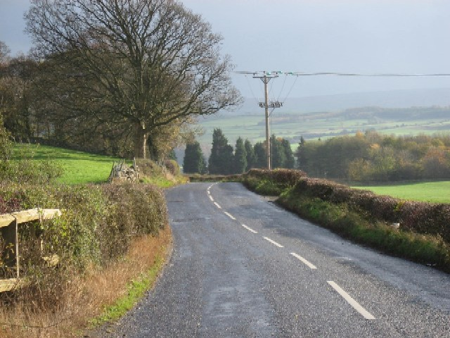 The road to Wensley
