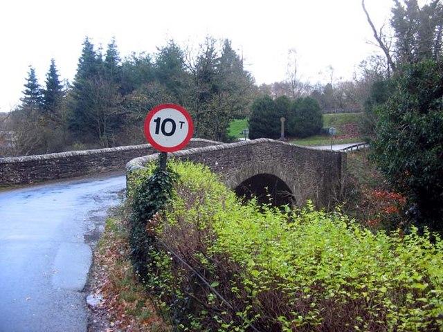 Weak bridge over the River Teviot