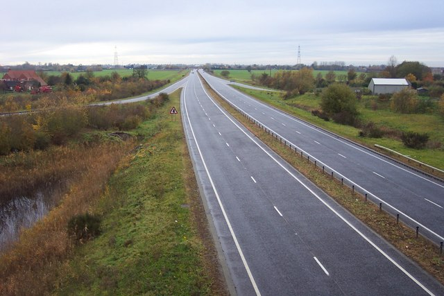 The A 47 near Walpole Highway