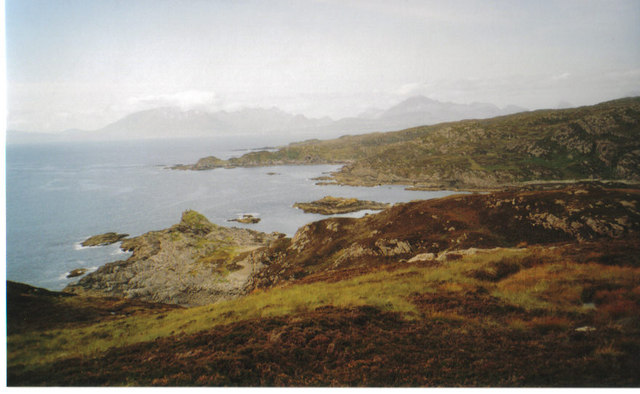Geur Rubha with Cuillin in the background