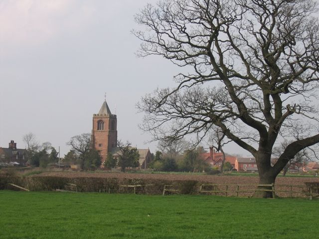 Waverton St  Peters across the fields
