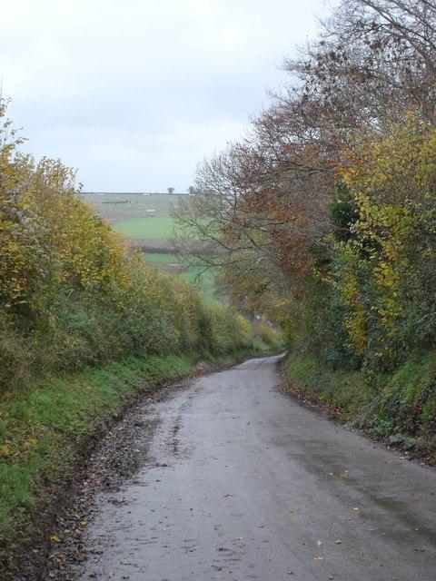 Lane down into Long Crichel